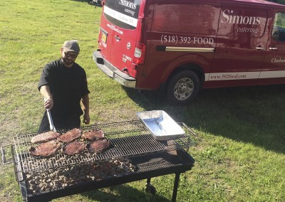 Beef on the barbecue. Simons food catering.