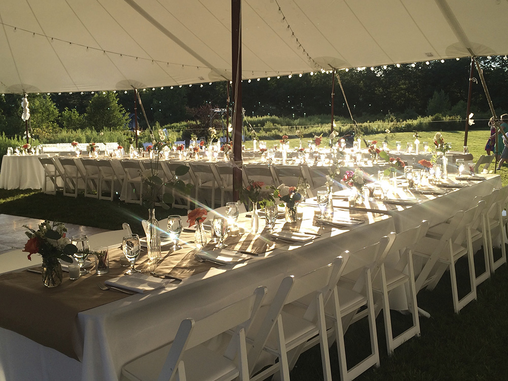 Outdoor wedding catered in the Hudson Valley