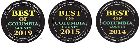 Voted Best Caterer in Columbia County 2019, 2015 and 2014